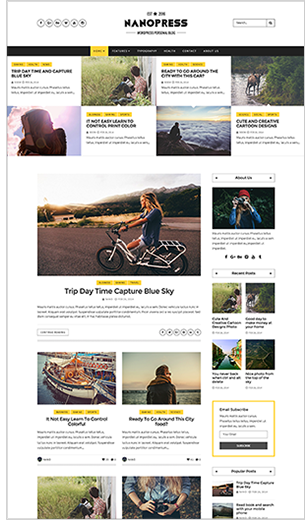 Nanopress - WordPress Responsive Blog & Magazine Theme