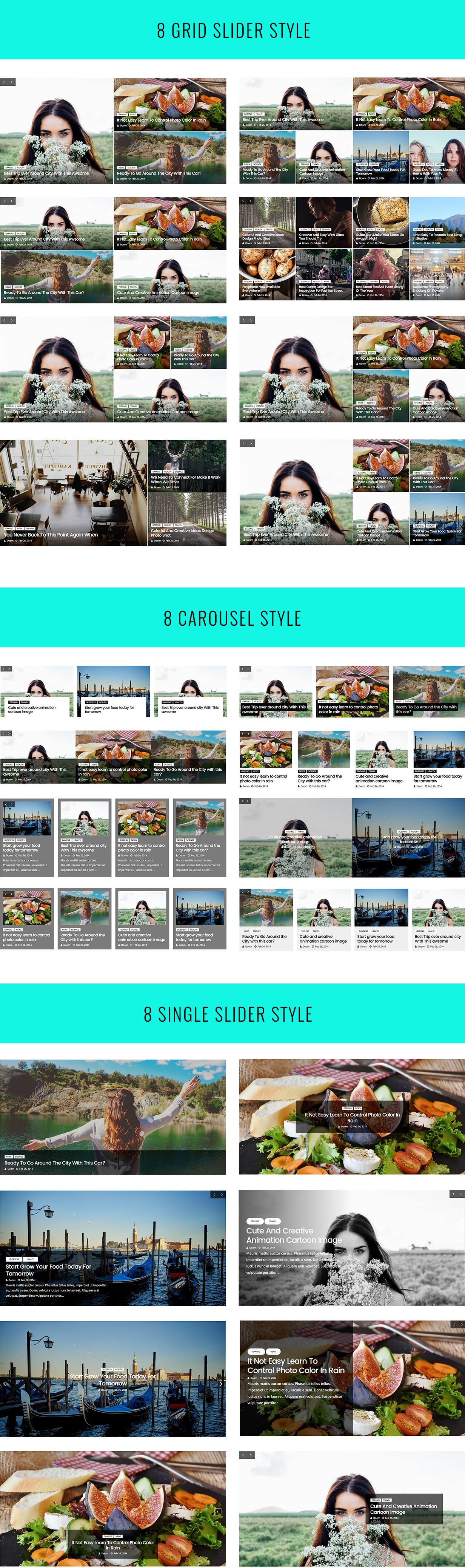Pro Post Carousel & Slider For Visual Composer 1