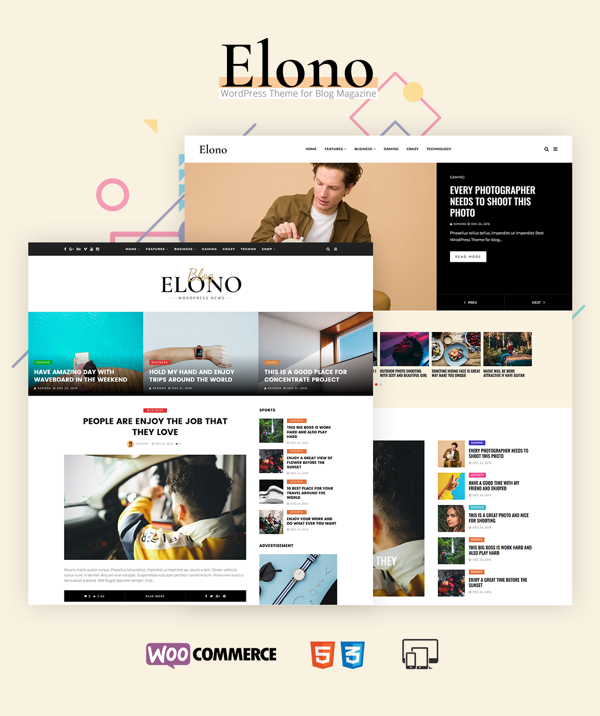 Elono - WordPress Blog Magazine Theme - 2